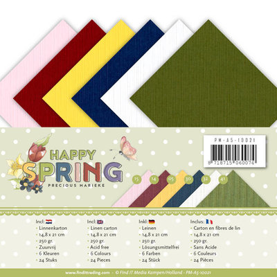 PM-A5-10021 Linnenpakket - A5 - Precious Marieke - Happy Spring