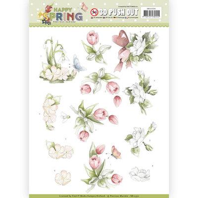 SB10330 3D Pushout - Precious Marieke - Happy Spring - Happy Spring Flowers