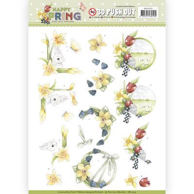 SB10329 3D Pushout - Precious Marieke - Happy Spring - Happy Daffodils