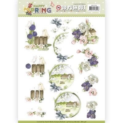 SB10328 3D Pushout - Precious Marieke - Happy Spring - Happy on the Farm