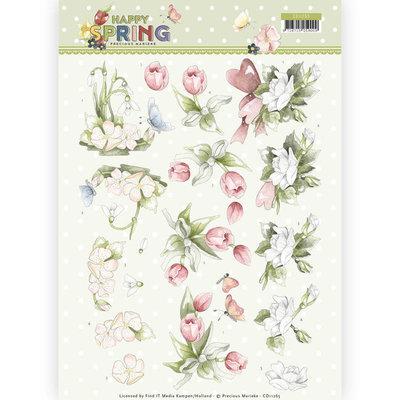 CD11265 3D Knipvel - Precious Marieke - Happy Spring - Happy Spring Flowers