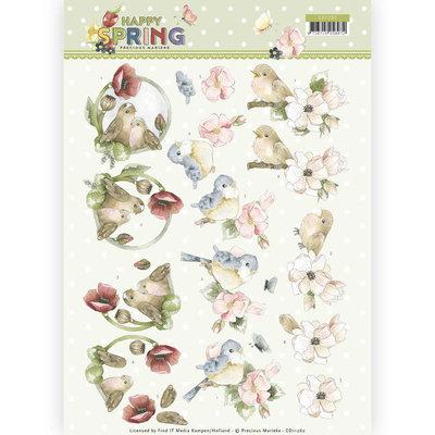 CD11262 3D Knipvel - Precious Marieke - Happy Spring - Happy Birds