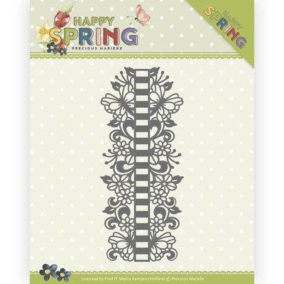 PM10147 Dies - Precious Marieke - Happy Spring - Ribbon Border