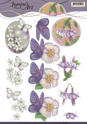 CD11097 3D Knipvel - Jeanines Art - Birds and flowers
