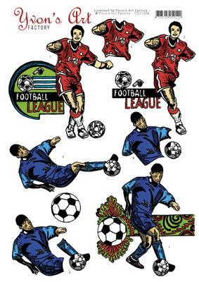 CD11244 - 3D Knipvel - Yvon's Art - Football league