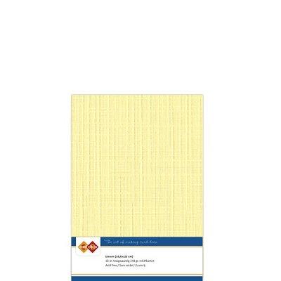 04 Card Deco Linnen A4 10 vel Geel 240grm