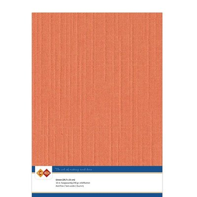 11 Card Deco Linnen A4 10 vel Oranje 240grm