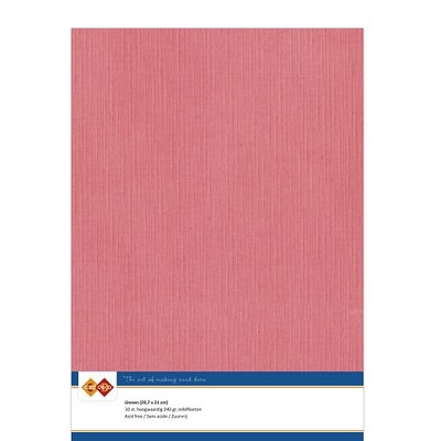42 Card Deco Linnen A4 10 vel Flamingo 240grm