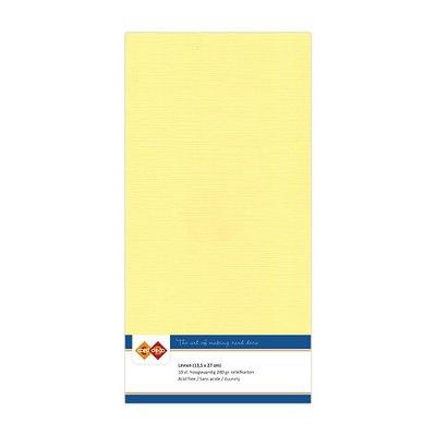 04 Card Deco Linnen 135x270mm 15 vel Geel 240grm