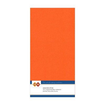 11 Card Deco Linnen 135x270mm 15 vel Oranje 240grm