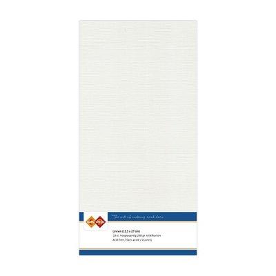 24 Card Deco Linnen 135x270mm 15 vel Lichtgrijs 240grm