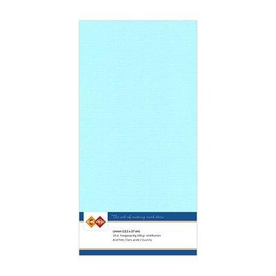28 Card Deco Linnen 135x270mm 15 vel Lichtblauw 240grm