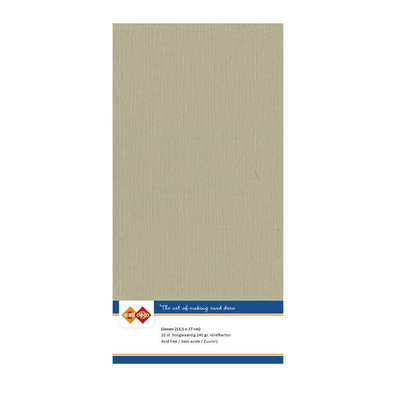53 Card Deco Linnen 135x270mm 15 vel Taupe 240grm