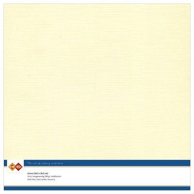 02  Card Deco Linnenkarton - 30,5 x 30,5  Creme  10 vel