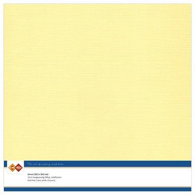 03  Card Deco Linnenkarton - 30,5 x 30,5  Lichtgeel  10 vel