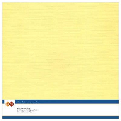 04  Card Deco Linnenkarton - 30,5 x 30,5  Geel  10 vel