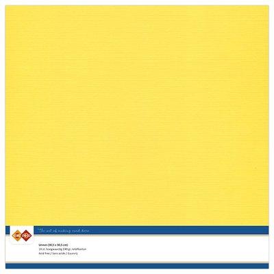 06  Card Deco Linnenkarton - 30,5 x 30,5  Kanariegeel  10 vel