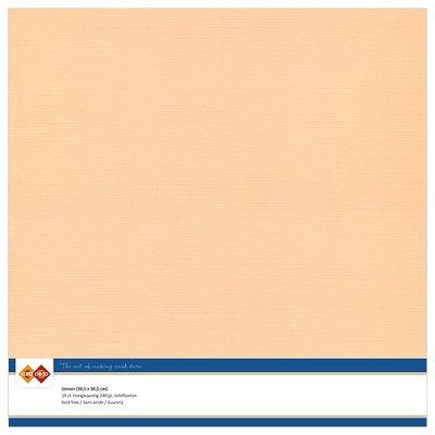 09  Card Deco Linnenkarton - 30,5 x 30,5  Zalm  10 vel