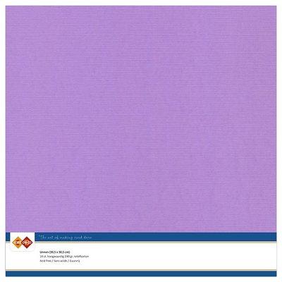 17  Card Deco Linnenkarton - 30,5 x 30,5  Lila  10 vel