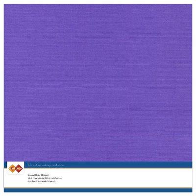 18  Card Deco Linnenkarton - 30,5 x 30,5  Violet  10 vel