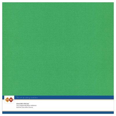 22  Card Deco Linnenkarton - 30,5 x 30,5  Groen  10 vel