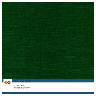 23  Card Deco Linnenkarton - 30,5 x 30,5  Kerstgroen  10 vel