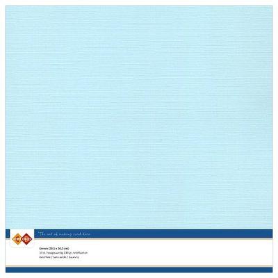 27  Card Deco Linnenkarton - 30,5 x 30,5  Babyblauw  10 vel