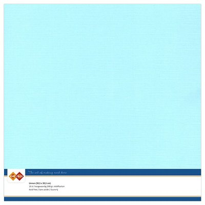 28  Card Deco Linnenkarton - 30,5 x 30,5  Lichtblauw  10 vel