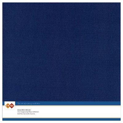 30  Card Deco Linnenkarton - 30,5 x 30,5  Donkerblauw  10 vel