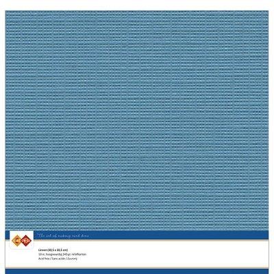 40  Card Deco Linnenkarton - 30,5 x 30,5  Turquoise  10 vel