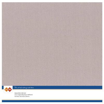 50  Card Deco Linnenkarton - 30,5 x 30,5  Schelproze  10 vel