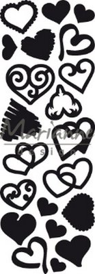 Marianne D Craftable Punch die Sweet Hearts CR1460 230x87mm