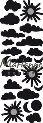 Marianne D Craftable Punch die Wolkjes CR1459 230,5x87mm