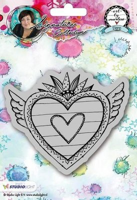 Studio Light Cling Stamp Hearts Art By Marlene 2.0 nr.24 STAMPBM24