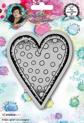 Studio Light Cling Stamp Hearts Art By Marlene 2.0 nr.22 STAMPBM22