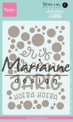 Marianne Design Stempel en die Karin's Er is er een jarig (NL) KJ1729