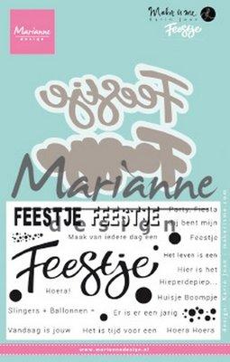 Marianne Design Stempel en die Karin's Feestje (NL) KJ1728