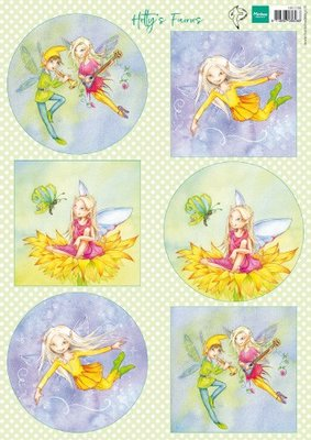 Marianne Design Knipvel Hetty's Fairies HK1706 A4
