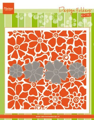 Marianne Design Embossing folder Klaprozen DF3452 152x154mm