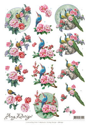CD11251 3D Knipvel - Amy Design - Oriental Birds