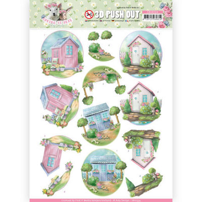 SB10334 3D Pushout - Amy Design - Spring is Here - Garden Sheds