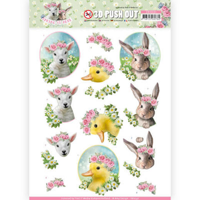 SB10331 3D Pushout - Amy Design - Spring is Here - Baby Animals