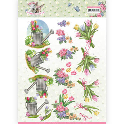 CD11277 3D Knipvel - Amy Design - Spring is Here - Tulips