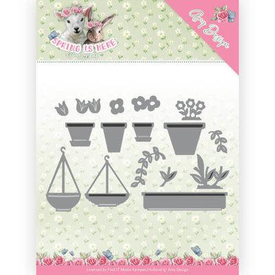 ADD10169 Dies - Amy Design - Spring is Here  Flowerpots 10 x 6.3CM