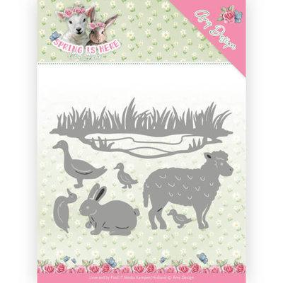 ADD10167 Dies - Amy Design - Spring is Here - Spring Animals 12.8 x 9.6CM