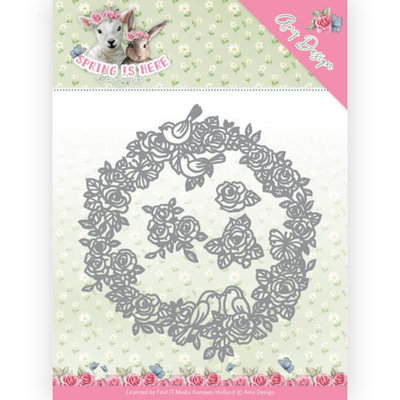 ADD10166 Dies - Amy Design - Spring is Here - Circle of Roses 12.1x12.8CM