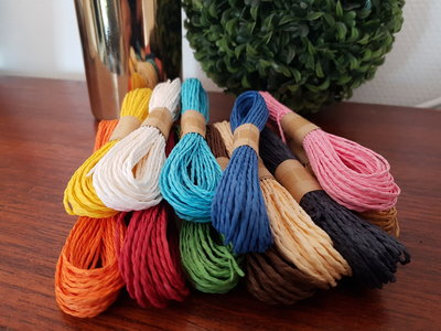 Bakers Twine touw - 10 meter - Effen - Diverse kleuren