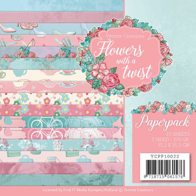 YCPP10022 Paperpack - Yvonne Creations - Flowers with a Twist