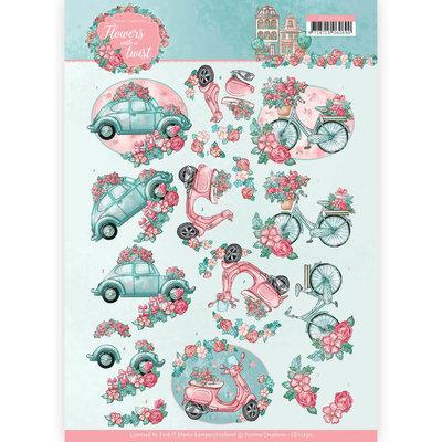 CD11290 3D knipvel - Yvonne Creations - Flowers with a Twist - Flower Transport