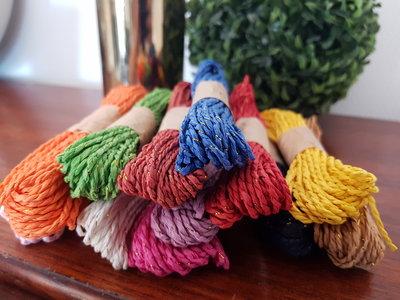 Bakers Twine touw - 10 meter - Glitter - Diverse kleuren